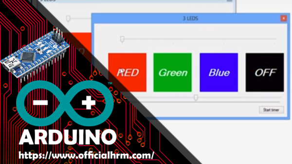 Arduino-Nano + 3 led output + Vb.net