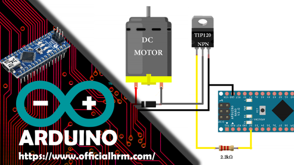Arduino Tip120 Motor